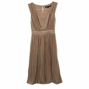 French Connection Size 0 Beige Dress Pleated SLVLS